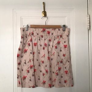 J. Crew floral cotton skirt